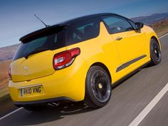 Citroen DS3 in Yellow and Black.  http://www.hartwell.co.uk/new-cars/citroen/ds3