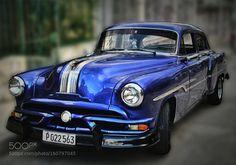 Cuban Cars: Blue Pontiac by WinfriedvonEsmarch
