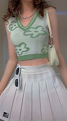 Indie Outfits, Girly Outfits, Cute Casual Outfits, Pretty Outfits, Fashion Outfits, Kawaii Fashion, Preppy Style, Outfit Sets, Aesthetic Clothes