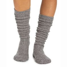These new socks are longer and lighter weight than the original Heathered Women's Socks. They feature stylish ribbing down the front, and the thinner knit allows for easier wearing with footwear. New in Spring Polyester Microfiber Barefoot Dreams, Casual Outfits, Casual Clothes, Shoe Game, Socks, Business Casual, Lounge Wear, Footwear, Sporty