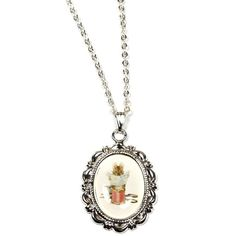 Hoolala Beatrix Potter Necklace ($18) ❤ liked on Polyvore featuring jewelry, necklaces, pendant jewelry, chains jewelry, silver plated necklace, chain pendant necklace and pendant charms