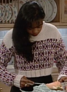 The Marvelous Misadventures — Ashley Banks knows how to dress. Black 90s Fashion, Ashley Banks, Tatyana Ali, Fresh Prince, Clueless, Fashion Lookbook, Winter Dresses, Christmas Sweaters, Hair Beauty