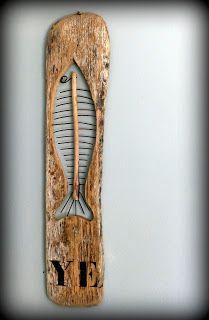 driftwood fish, sardine en bois flotté