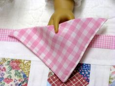 American Girl Table Runner and 4 Napkins  by DollPatchworks, $18.00