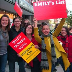 WOMEN VOTE! - EMILY's List.  Keep up on women's issues and the women in politics affecting those issues on Facebook - Emily's List and at emilyslist.org.   Pass it on :)