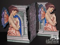 """Leigh S-B Designs: """"The Architect Fairy"""" Fancy Fold Card - Spotlight on Lost Coast Designs Rubber Stamps!"""