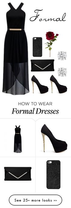 """""""Formal"""" by annie-hodgson on Polyvore featuring moda, Forever New, Giuseppe Zanotti, Sia i BaubleBar"""