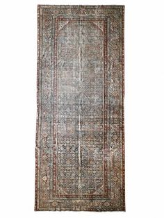 This gorgeous gallery vintage rug in a time-softened palette This vintage gallery rug has been treated with an antique wash, softening its tones to appeal to the palette of any modern-day home. Vintage Rugs, Vintage Shops, Vintage Items, Oxblood, Persian Rug, Colorful Rugs, 1920s, Brick, Palette