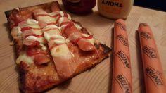 Pizza z Parowkami Berlinki #pizza #pizzawiener #pizzaberlinki #pizzaberlinka