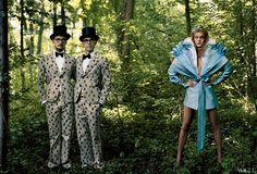 Vogue Alice in Wonderland in Viktor & Rolf  photo by Annie Leibovitz