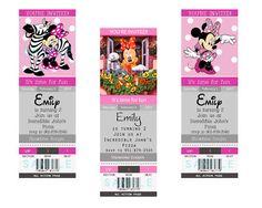 Mickey Minnie Mouse Birthday Party Invitation | eBay