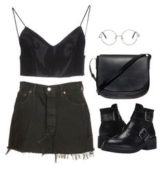 """""""Untitled #6548"""" by heynathalie ❤ liked on Polyvore featuring Levi's, Alexander Wang, Ash and Mansur Gavriel"""