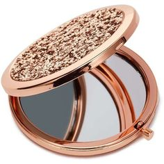 Miss Selfridge Rose Gold Slogan Mirror ($20) ❤ liked on Polyvore featuring beauty products, beauty accessories, rose gold and miss selfridge