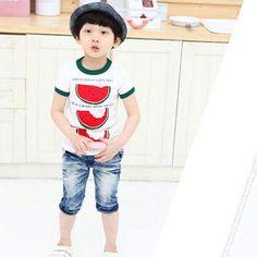 Watermelon Tee #cheekymonkey #toddlerboy