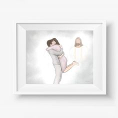 """""""We can't fully appreciate joyful reunions later without tearful separations now. The only way to take sorrow out of death is to take love out of life."""" - Russel M. Nelson You can find this printable and other variations of it at www.shop-pencilbykamie.com/ #pencilbykamie #dillydesignsart #christ #reunion #heaven #christianart #digitalartist Jesus Christ Painting, Funeral Gifts, Sympathy Gifts, Art File, Christian Art, Custom Art, Cool Pictures, Printable, Cart"""