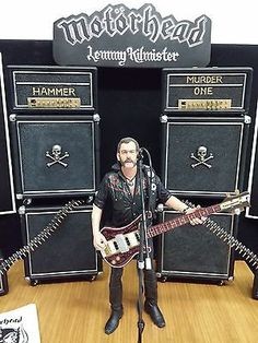 """Lemmy Kilmister memorial custom diorama 8""""action figure and accessories"""