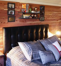 DIY Cedar Plank Feature Wall And A Little Makeover