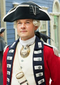 Caleb Brewster steals a British uniform to rescue Abe from prison on AMC'S Turn. Historical Costume, Historical Clothing, George Washington, 18th Century Clothing, Fight For Freedom, British Army, British Marine, American War, American Revolution
