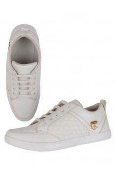 White CJ Crezy Casual Men's Sneakers