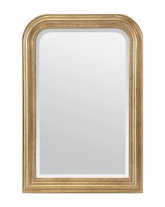 With an impossible-to-miss gold leaf finish, our Vienna Mirror makes a statement wherever it's placed. Elegant beveled edges and a simple pearl detail finish off the design lending a delicate feel to its ornate form. Anthropologie Mirror, Mirror Video, French Mirror, White Vanity, Pop Up Shops, Look In The Mirror, Gold Paint, Vintage Decor, Vienna