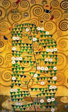 'Albero della vita (Stoclet Frieze)' di Gustav Klimt (1862-1918, Austria)