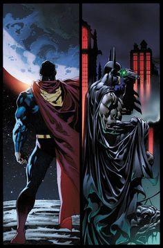 Superman and Batman....