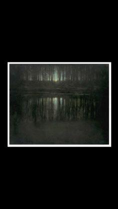 "Edward Steichen - "" The pond - Moonlight "", 1904 - Multiple gum bichromate print over platinum - 41 x 50,8 cm"