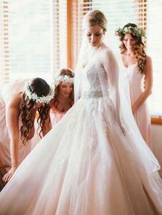 28 Gorgeous Blush and Light Pink Wedding Dresses   TheKnot.com