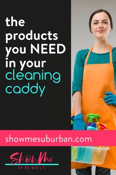 I used these 12 cleaning essentials to diy my own cleaning caddy. These ideas for double-duty products make cleaning faster and more efficient! Cleaning supply organization is so much easier! I love these tips on what to put in my cleaning basket. Cleaning Caddy, Cleaning Checklist, Cleaning Hacks, Cleaning Supplies, Home Management Binder, Family Organizer, Homekeeping, Working Woman, Packing Tips
