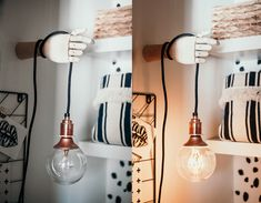 ) I got another small and easy DIY for you - Wooden hand lamp holder - you can position hand any way you like and it adds a touch of quirky to any space - so are we ready ? Wooden Hand, Cozy Living, Dressing Room, Tiny House, Easy Diy, Wall Lights, Inspiration, Grant Park, Home Decor