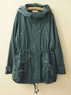 Oversized trench jacket, this would be really cute, green beige-brown or maybe dark blue or burgundy purple