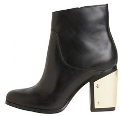 Windsor Smith gold heel ankle boots $189.95