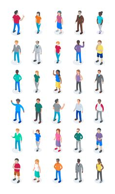 Isometric characters 2 People Illustration, Flat Illustration, Character Illustration, Isometric Drawing, Isometric Design, Character Drawing, Character Design, People Cutout, Architecture People