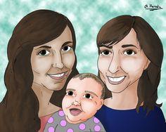 Este es un dibujo para regalar en el día de la madre.  This draw is a mother's day gift.