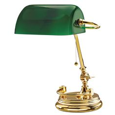 Tuscanor - Solid Brass Bankers Lamp - TUS1503