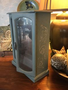 Jewelry armoire Mint upcycled wood by MySugarBlossom on Etsy home