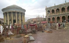 animal market set from HBO Rome