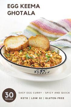 Anda Keema Ghotala - Egg Curry Recipe - My Tasty Curry Easy Egg Recipes, New Recipes, Real Food Recipes, Healthy Recipes, Keema Recipes, Curry Recipes, Indian Beef Recipes, Ethnic Recipes, Egg Curry