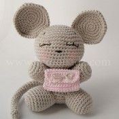 (Finished item available to purchase). Crochet Mouse, Crochet Baby, Knit Crochet, Tooth Pillow, Tooth Fairy Pillow, Bambi, Cute Tooth, Confection Au Crochet, Crochet Pillow