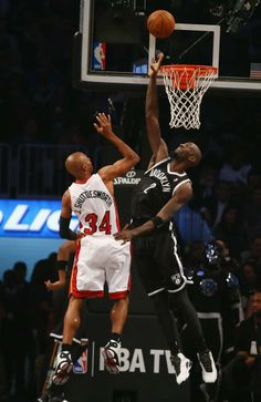 NBA players sport nicknames on jerseys  Miami Heat v Brooklyn Nets -- NEW YORK, NY - JANUARY 10: Ray Allen #34 of the Miami Heat is seen with his nickname on his jersey Jesus Shuttlesworth shooting against Kevin Garnett #2 of the Brooklyn Nets during their game at the Barclays Center on January 10, 2014 in New York City.