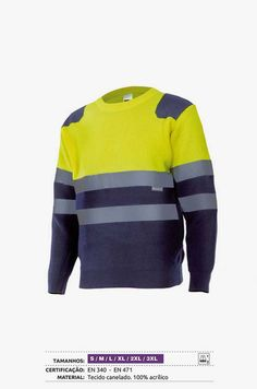Jersey Bicolor de Punto de Alta Visibilidad con Cintas Reflectoras Serie  179 Velilla Aracotextil Vestuario Laboral e523929957c8