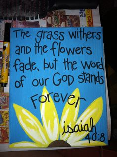 Isaiah 40 painted canvas