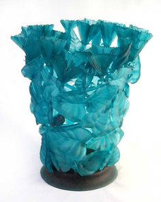 Evelyn Dunstan Shades Of Turquoise, Turquoise Glass, Sculpture Art, Sculptures, Art Of Glass, Aqua, Glass Design, Colored Glass, Pottery
