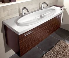 The Loop washbasin from Villeroy & Boch is stylish two-person sink. It's an innovative concept based on the farm sink idea… this is, it's long and narrow, and specially...