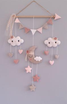 Felt Crafts Diy, Felt Diy, Baby Crafts, Baby Room Diy, Baby Room Decor, Boho Nursery, Nursery Decor, Diy For Kids, Crafts For Kids