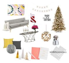 """""""Winter Wonderland Holiday"""" by ciarne28 on Polyvore featuring interior, interiors, interior design, home, home decor, interior decorating, Orla Kiely, Unison, Bloomingville and Lux-Art Silks"""