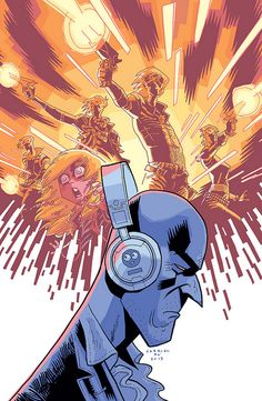 Killjoys 2 variant cover  Gabriel Bás variant cover for #2 of The True Lives of th Fabulous Killjoys, by Gerard Way, Shaun Simon and Becky Cloonan.