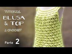 e1fc244f2a Blusa y Top – Talles niñas y adultos – Paso a Paso Crochet Crochet Skirts