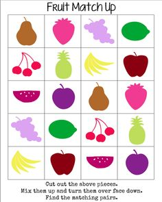 Part 2 from mama♥miss. How awesome are these? Oh how I wish I had a printer. Fruit Match Up Game from mama♥miss Why hello there Boy Mama Teacher Mama readers! I'm back today with ano. Adjective Games, Three Little, Up Game, Matching Games, Screen Shot, Bingo, Gnomes, Printer, Teacher