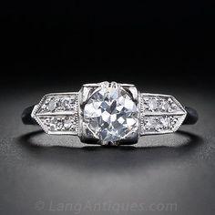 .55 Carat Art Deco Diamond Engagement Ring - 10-1-4032 - Lang Antiques